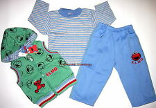 BNWT Brand New Elmo 3pc hoodie top vest pants Tracksuit boys track suit