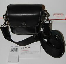 Coach Black Leather Tote Sling Handbag Purse Camera Bag