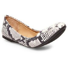 Mossimo Supply Co Women's Ona Scrunch Ballet Flats Shoes -  Snake - Size 6, 7.5