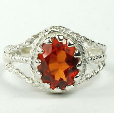 Created Padparadsha Sapphire, 925 Sterling Silver Ladies Ring, SR070-Handmade