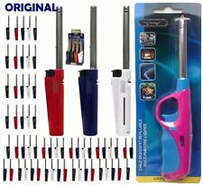 2x Clipper Tube Lighters Long Refillable Gas Cooker BBQ Kitchen Camping Fire Ltr