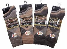 Mens Traditional Argyle Pattern quality Wool Blend Socks With Lycra (Mid Calf)
