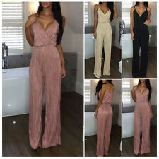 Womens Jumpsuit Ladies Evening Overall Clubwear Party Playsuit Long Pants Romper