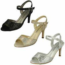 Ladies Anne Michelle Glitter Peep Toe Sandals