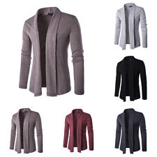 Fashion Men Knitted Cardigan Jacket Slim Long Sleeve Casual Sweater Coat Tops