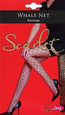 Silky Black  Whale Net  Stockings One Size