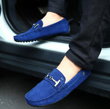 Fashion Mens casual Moccasin Loafer Slip On Driving Suede Leather Boats Shoes Sz