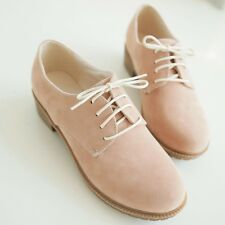 Womens Synthetic Oxford Suede Lace Ups Loafers & Moccasins Casual Solid Shoes