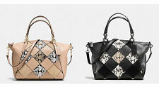 COACH F57849 SMALL KELSEY SATCHEL IN SNAKE EMBOSSED PATCHWORK