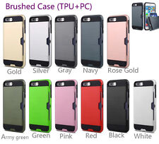 Newest! Phone Cases Shockproof Hybrid Armor Back Hard PC + TPU Cover Card Pocket