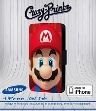 Super Mario Cool Funny fits iPhone / Samsung Leather Flip Case Cover Wallet B112
