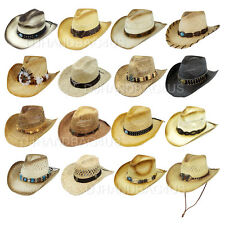 Fashion Western Style Mens Womens Cowboy Straw Shapeable Pinch Hat Beach Cap New