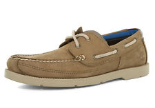 Mens Timberland Piper Cove 2-Eye Boat Shoe Beige Light Brown Nubuck A1G81