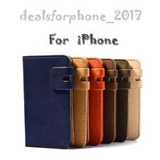 Luxury Magnetic Flip Stand Wallet Suede Leather Case For iphone Models*UK STOCK*