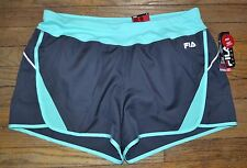 Fila Sport RUNNING Shorts Performance Wicking Built in Liner Storm Black Size L