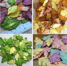 50 X  Daisy Leaves Mulberry Paper Craft Scrapbooking Embellishment Cardmaking
