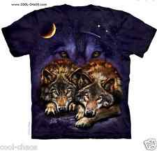Wolf in the Night Sky Moon T-Shirt / Tie Dye Purple Tee,Wolves,Stars,Starry Nite