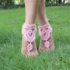Wedding Bridal Crochet Barefoot Anklet Knit Anklet Foot Jewelry Beach Sandals
