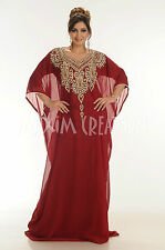 DUBAI CAFTAN GEORGETTE FARASHA FANCY ARABIAN ISLAMIC ELEGANT WEDDING DRESS  3800
