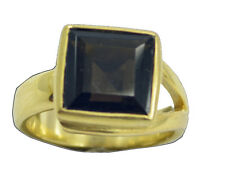 Smoky Quartz Gold Plated Ring pleasing Brown wholesale AU K,M,O,Q
