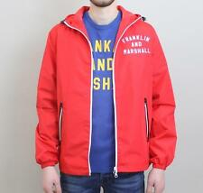 Franklin And Marshall Zipped Nylon Jacket - Campus Red - £89.99 - NEW 2017