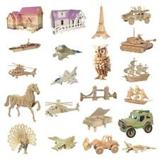 3D Wooden DIY Modelling Kit Puzzles Jigsaw Set Kids Childrens Educational Toy
