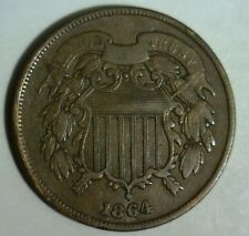1864  TWO CENT PIECE   CIRCULATED  #A (180' ROTATED REV.)   NICE LOOKING COIN!!
