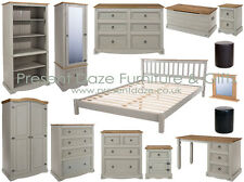 Premium Corona Solid Pine Grey Wash Bedroom Furniture - FREE DELIVERY AVAILABLE