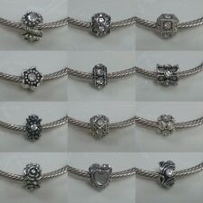 ~ Antique Silver Rhinestone Charms ~ 99p Each ~ Buy 4 Get 1 Free ~ Gift Bag ~