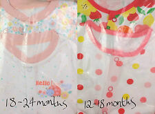 Baby Girls F&F 2 Pack Babygrows Sleepsuits 2 Designs 12-18 & 18-24 Months BNIP