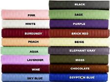 1000TC EGYPTIAN COTTON 1 PC BED SKIRT/VALANCE STRIPE ALL COLOR AU QUEEN SIZE
