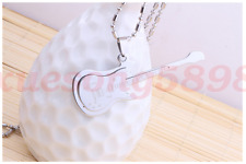 Fashion Single Stainless and titanium steel guitar cool pendants necklace