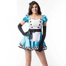 Alice in Wonderland Costume Sexy Blue Maid Costume Adult Fancy Dress Cosplay