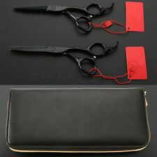 5.5/6.0 inch Hair Scissors Sets Cutting Straight &Thinning Scissors Barber Salon
