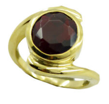 Ruby CZ Gold Plated Ring dollish Red handcrafted AU K,M,O,Q