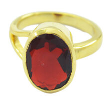 Ruby CZ Gold Plated Ring refined Red wholesale AU K,M,O,Q