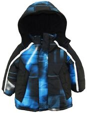 Ixtreme Little Boys Plaid Source Hooded Fleece Lined Winter Puffer Jacket
