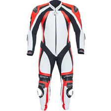 RST Motorbike Track 1 Piece Pro Series CPXC-2 Leather Suit White / Flo Red