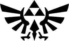 Zelda Triforce of Hyrule Vinyl Car Window Decal Nintendo Link Sticker