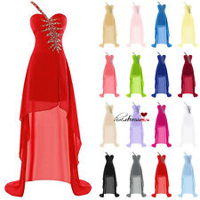 Csystals Formal Long Bridesmaid Dresses Evening Prom Party Ball Gowns STOCK 6-20