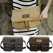 Vintage Style Unisex Canvas Messenger Travel School Casual Shoulder Bag WT881