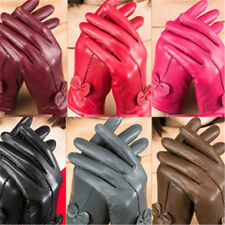 NEW Charm Womens Winter Warm Genuine Lambskin Leather Driving Soft Lining Gloves