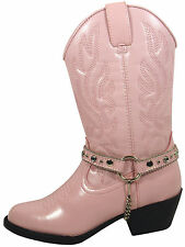 Smoky Mountain Boots Toddler Girls Charleston Pink Faux Leather Cowboy