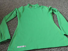 UNDER ARMOUR FITTED MOCK COLD GEAR GREEN WOMENS LARGE L
