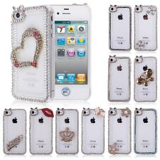 Luxury Diamond Phone Back Clear Case Cover Skin For Apple iphone 4 4G 4S