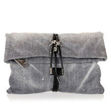 DSQUARED2 D2 New women Small Clutch Jeans Hand Bag Denim Authentic MADE IN ITALY