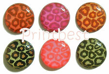 1 Pack of 6 pc Brown/Green/Pink Leopard Home Button Sticker ca*