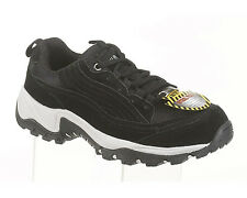 AdTec Womens Black Suede Work Hiker Steel Toe Suede Shoes