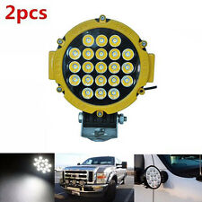 2pcs x 63W CREE LED WORK LIGHT ROUND SPOT OFF ROAD DRIVING BOAT SUV LAMP