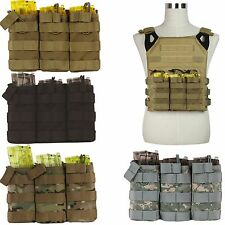 MOLLE/PALS Army Triple Stacker 5.56 Magazine MAG Ammo Pouch Cover Bungee Straps